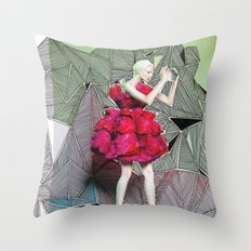 Alexander McQueen Doodle Bomb by Downtown Doodler Throw Pillow