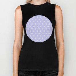 Blue Ultra Soft Lavender Thalertupfen White Pōlka Large Round Dots Pattern Biker Tank