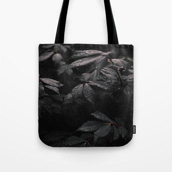 Black Leaf Tote Bag