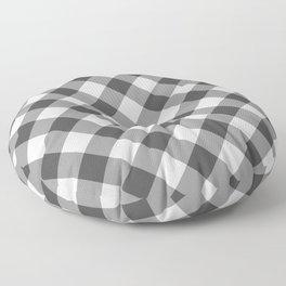 Diagonal buffalo check black Floor Pillow