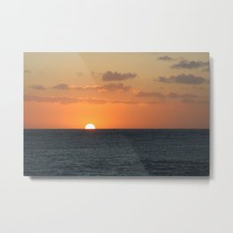 Sunset at Great Barrier Reef Metal Print