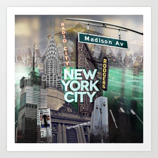 New York City II [green] Art Print