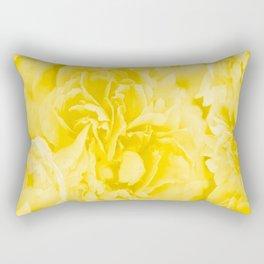 Yellow Peony Petals in Close-up #decor #society6 #buyart Rectangular Pillow