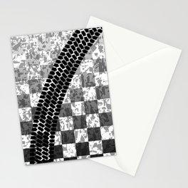 Flag Skid Mark Stationery Cards