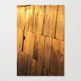Golden Shingles  Canvas Print