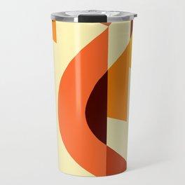 SUISSE - Art Deco Modern: AUTUMN ORANGE Travel Mug