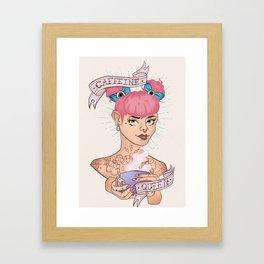 Caffeine Queen Framed Art Print
