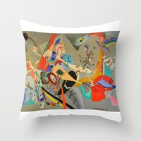 kandinsky Throw Pillows featuring Kandinsky Composition Study by Andrew Sherman