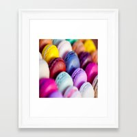 macaroons Framed Art Prints featuring Macaroons by rosita