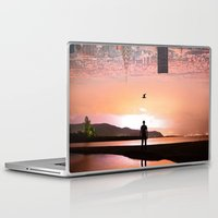 cityscape Laptop & iPad Skins featuring Cityscape by Enkel Dika