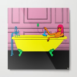 Tub Girl Metal Print