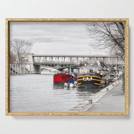 Houseboats near Pont Bir-Hakeim - Paris Serving Tray