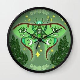 Lunar Moth Wall Clock