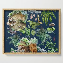 Fungi & Ferns Blue Serving Tray