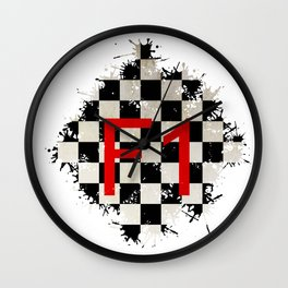 The Chequered Splatter Wall Clock