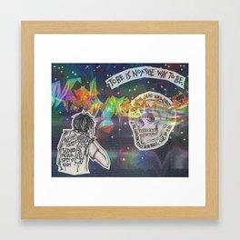 human sadness Framed Art Print