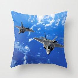 F-22 Raptor Throw Pillow