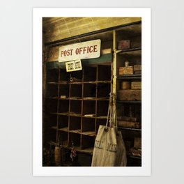 Old Time Post Office Art Print