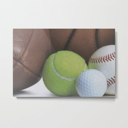 Sports Love Variety of Balls Metal Print