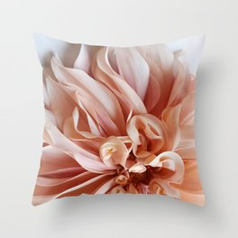 Dahlia Petals Throw Pillow