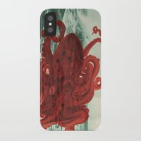 octopus iPhone & iPod Cases featuring Octopus Beach by Chase Kunz