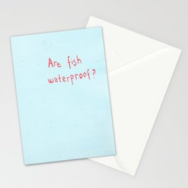 Are Fish Waterproof? Stationery Cards