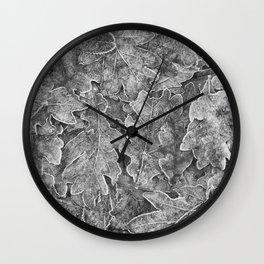Winter's Silver Wall Clock