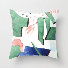 Bubblegum garden Throw Pillow