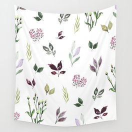 Tiny watercolor leaves Wall Tapestry