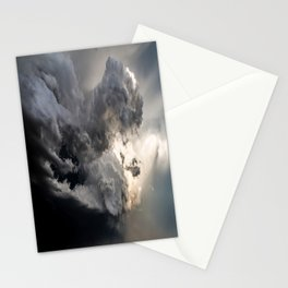 Fist of Fury - Storm Packs a Punch Over Oklahoma Plains Stationery Cards