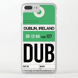 DUB Dublin Luggage Tag 1 Clear iPhone Case