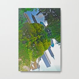 The Pond Reflections 4 - Central Park, NYC  Metal Print