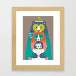 FAMILY BEAR Framed Art Print