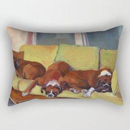 Boxer Dog Siesta Rectangular Pillow