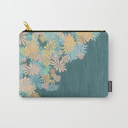 Teal pastel splash Carry-All Pouch