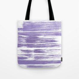 Modern abstract lilac lavender white watercolor brushstrokes Tote Bag