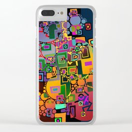 Cubism Modern Art - Dancing In The City 1 Clear iPhone Case