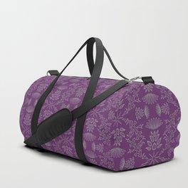 Thistle Outline on Purple Duffle Bag