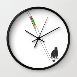 Hawks Wall Clock
