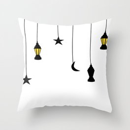 falling stars Throw Pillow