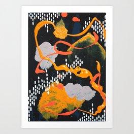 Yellow & Orange Triptych 2 Art Print