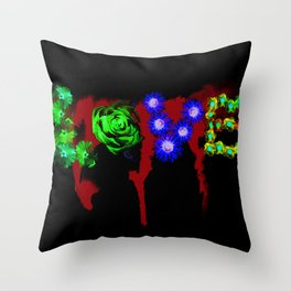 Floral Addiction Throw Pillow