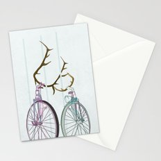 Bicycles in Love Stationery Cards