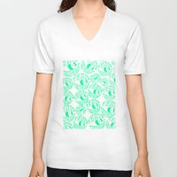 tame impala V-neck T-shirts featuring TAME IMPALA EYES by Queen Lizard