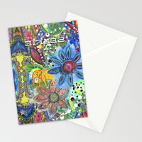 Abstract Intense Bright Stationery Cards