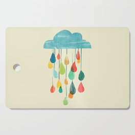 cloudy with a chance of rainbow Cutting Board
