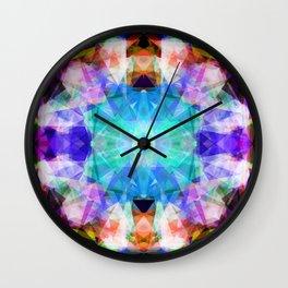 Abstract lavender lilac modern kaleidoscope pattern Wall Clock