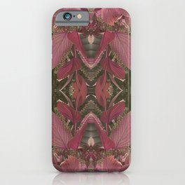 Red Shiso Warm Tones Pattern iPhone Case