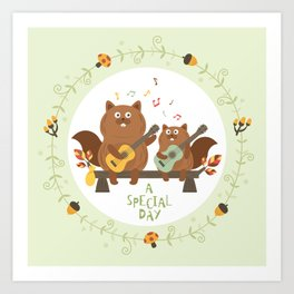 a special day Art Print