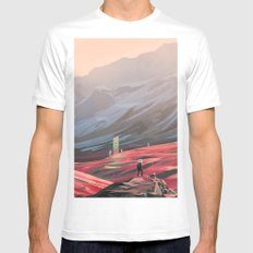 Alien Monolith LARGE White Mens Fitted Tee